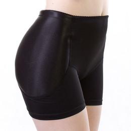 Wholesale Black Boyshorts - Popular Black Women Sexy Boyshorts Fixed Fake Hip Panties Push Up Knickers False Bum Hip Padded Panties Butt Enhance Buttocks
