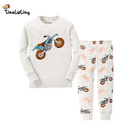 Wholesale Pijamas Boys - TINOLULING 21 Design Kids Motorcycle Pajamas Sets Boys Dinosaur Sleepwear Girls Pyjamas Baby Cars Pijamas Children Nightwear