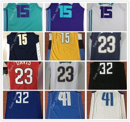 Wholesale Blue Anthony - 2018 New Season #41 Dirk Nowitzki Jersey Stitched #0 DeMarcus Cousins #32 Blake Griffin #15 Nikola Jokic Anthony Davis Kemba Walker Jerseys