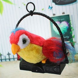Funny Novelty Talking Parrot Imitates And Repeats What You Say Kids Gift Funny Toy Kids Electronic Toys 22x19.8x5.7cm Deals