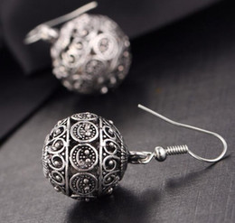 Wholesale Wedding 98 - New listing Tassel Hollow ball Earrings alloy earrings Jewelry For Women Party Gift .60 pcs 30 pair Free shipping 98