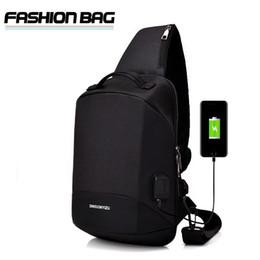 13fef5762fea4 große brust frau Rabatt USB Sling Bag für Männer Frauen Brusttasche Große  Kapazität Wasserdichte Sommer Kurze