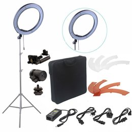kit dslr Rebajas Fusitu 18 '' 240pcs LED 5500K Fotografía Video LED LED Anillo de luz Kit para cámara DSLR