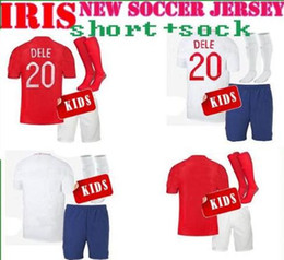 Wholesale white soccer shirt kids - l'angleterre Soccer Jersey KIDS kit 2018 world cup KANE RASHFORD Soccer Shirt 2018 world cup Customized KIDS football Uniform