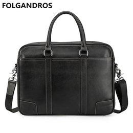 переносная сумка для ноутбука Скидка Men's Genuine Leather 14