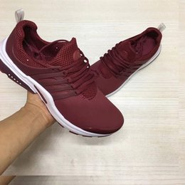 Wholesale Breathe Sports - 2018 Air PRESTO Breathe Black Red Men Basketball Shoes Sneakers Running Shoes Sports Walking shoes Fall Olive