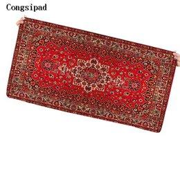 Коврик для мыши коврик мода онлайн-Congsipad большой размер коврик для мыши Коврик для мыши Красный персидский ковер стиль 90X40CM мода противоскользящая ноутбук ПК личность клавиатура Pad