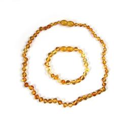 Collier d'ambre naturel pour bébé maman adulte cadeaux véritables pierres précieuses femmes bijoux ambre baltique collier bracelet en gros ? partir de fabricateur