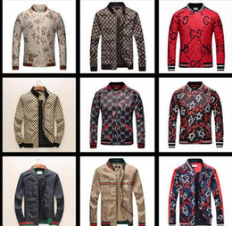 Wholesale hoodie styles men - Hot sale Spring Autumn New Fashion Brand Flowers Print Jacket Men England Style Hoodies Man Slim Fit Casual Luxury Coat Plus Size M-XXXL