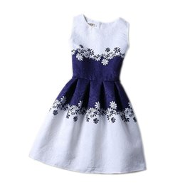 Wholesale Dresses 12 Years Old Girls - Cartoon Castle Summer Sleeveless Girls Print Dress Knee Length Princess A-Line Dress Clothes For Kids 6 to 12 years Old Kids