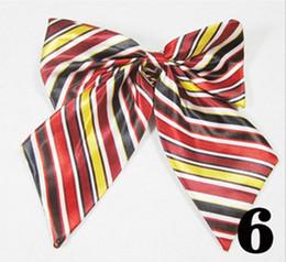 Wholesale marriage suits - Hot Women Necktie Bow Tie Butterfly Cravat Silk Bowtie Marriage Bow Ties For Women Formal Suit Neck Wear Ribbon Accessories