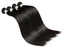 Wholesale Process Hair - Liang Shuang Brazilian Virgin Stragiht Hair 4 Bundles 24 24 24 24inch 100% Unprocessed Brazilian Stragiht Hair Natural Black Human Hair
