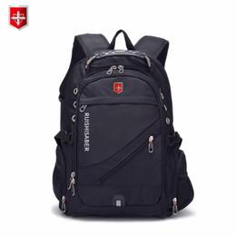 Sacchetti svizzeri del computer portatile online-New Oxford Zaino svizzero uomo esterno di ricarica USB 15/17 pollici laptop donne viaggio zaino Vintage School Bags bagpack