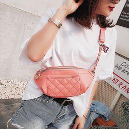 El nuevo bolso de verano 2018 verano nueva ola de la moda coreana bolso de la cadena de cadena del bolso del pecho de la castaña de la manera desde fabricantes