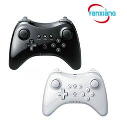 Klassischer controller pro online-10 stücke Wireless Classic Pro Controller Gamepad mit USB Kabel Für Nintendo Wii U Pro Schwarz / Weiß YX-wiiupro