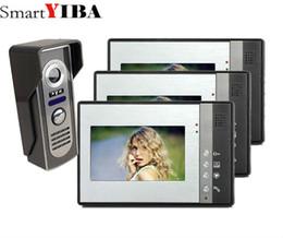 segurança em casa grátis Desconto SmartYIBA 3 * 7 polegada LCD a Cores Vídeo Porteiro Intercom Sistema de Câmera de Visão Noturna À Prova de Intempéries Home Security FRETE GRÁTIS