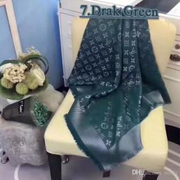 Argentina Marca de lujo bufanda de mujer 2018 moda de lana de cachemira carta de seda bufanda del mantón de las señoras bufandas tamaño 140x140cm sin caja supplier wool silk cashmere Suministro