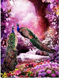 Photos de paon broderie en Ligne-Diamant Broderie Peacock Image de Strass, Diamant Peinture Point De Croix Animal Plein Carré Diamant Mosaïque Accueil LD048