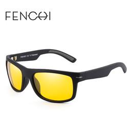 FENCHI hombres polarizados nueva moda gafas de sol cuadradas antideslizante  brazo gafas de conducción UV400 lente de visión nocturna 4 colores lentes de  ... de42e6e928f0