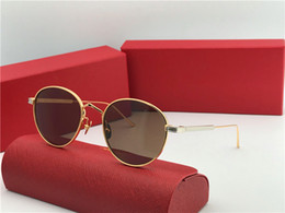 tops trend Promo Codes - New fashion designer sunglasses 0009S retro round k gold frame trend avant-garde style protection eyewear top quality with box