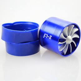 Ventilador de turbina online-Envío gratis Universal Single Fan F1-Z Supercharger Gas combustible Saver Fan Universal Turbine Turb Air Intake