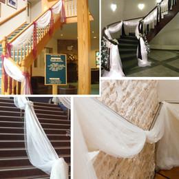 Articles de fête décorations de mariage royal en Ligne-Retraite Royal Blue 10 m * 1. 35 m pure organza Swag tissu fête de mariage fournitures Textiles de décoration par la livraison gratuite avec haute qualité