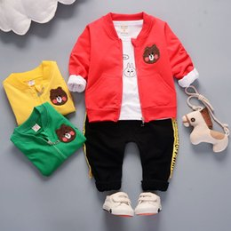 Wholesale Inner Suit - Inner gall five cartoon three pieces of young men's Cotton autumn suit can open crotch casual clothes