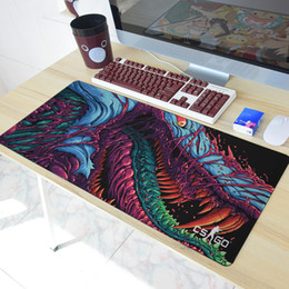Wholesale Cm Fire - The majority of Fires Go Hyper Beast CS MOUSE PAD PAD overlock Edge Great Gaming Mouse Pad boyfriend send the Best Gift 40x90 cm