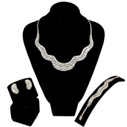 Ensembles de bijoux de luxe Réglage avec zircon cubique mariée collier de fiançailles / bracelet / boucles d'oreilles / bague set livraison gratuite drop shipping ? partir de fabricateur