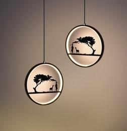 lâmpadas rústicas por atacado Desconto Criativo Deer Chandelier Escandinavo Restaurante Personalidade Moderna Simples Corredor Entrada Arte Único Cabeça Bar Lustre