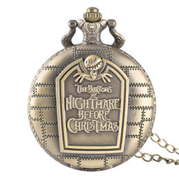 Vintage Pocket Watch Men English Wall Theme Quartz Creative Watches Women Kid Best Gift Bronze Full Hunter Design Clock от