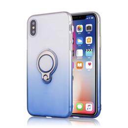 telefones kickstand Desconto Para iphone x xs max soft clear tpu case transparente tampa do telefone de silicone suporte do anel titular kickstand para xr 8 6 7 plus dhl sca511