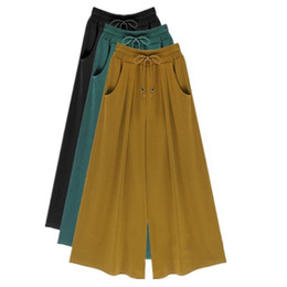 3e7309b6ea1 Women Summer Wide Leg Pants Plus Size M-4XL 5XL 6XL Female Casual Loose  Harem Pants Palazzo Culottes Stretch Trouser Clothing S18101605