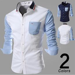 ef37722c992eeb 2019 gestrickte hemden für männer New Fashion Brand Shirt Herren Frühling  und Herbst stricken Kragen langärmeligen