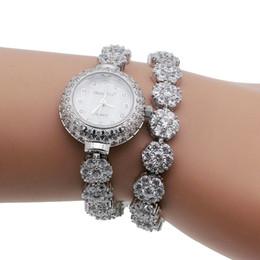 relojes de acero inoxidable Rebajas HERMOSA Relojes de moda de lujo para mujer 925 pulseras de plata del encanto Watchs QA79
