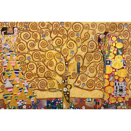 Wholesale Hand Painting Klimt - Gustav Klimt reproductions Tree of Life painting on canvas High quality hand painted modern art for living room decoration