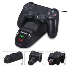 Dobe DUAL PS4 Kablosuz Denetleyicisi Için Şarj Dock USB PS4 Slim PRO için Dock İstasyonu Şarj nereden üçgen ayak tedarikçiler