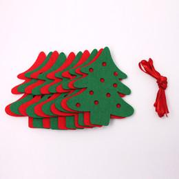 All'ingrosso-Natale ghirlanda 1.9 metri 10pcs albero di natale feltro panno doppio lato bandiere Bunting Banner ghirlanda festa di Natale Decor da