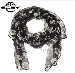Nouveau mode hommes   femmes foulard couronne   crâne en mousseline de soie  velours foulard en soie de soie châle automne   hiver châle blanc   noir  160   ... 6e5b5ac2753