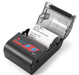 kommerzielle etikettendrucker Rabatt Billig 58mm Bluetooth Thernal Empfangsdrucker Mini Thermal Wireless Empfangsdrucker für Android ios Smartphone LLFA