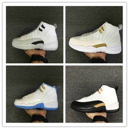 Wholesale Cheap Winter Boots Online - Wholesale Retro 12 Basketball Shoes Men 100% Original Sneakers 2016 New Cheap Online 12 XII French Blue OVO Boots Size US 8-13