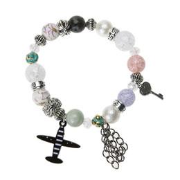 pulseiras de avião Desconto Jóias de luxo designer de pulseiras Boemia Pulseira Avião Encantos Frisado Mulheres Pulseira Coração Chave Glaze pulseira feminina 2017 Novo