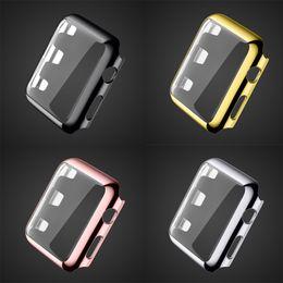 Lujo Blowout Prevention 18K chapado en oro reloj funda protectora cubierta de la vivienda para Apple Watch iWatch G1 38mm 42mm serie 3 serie 2 desde fabricantes