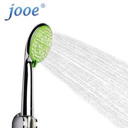 Wholesale-jooe Water Saving Shower Head handheld round 5 functions spray ABS chrome Bathroom Accessories bathe Shower nozzle je53