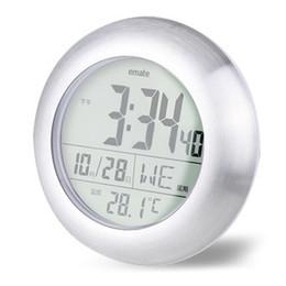 2020 водные часы Мода водонепроницаемый настенные часы душевая комната Электроника температура и влажность дисплей часы с супер сильным присоски 60xc jj скидка водные часы