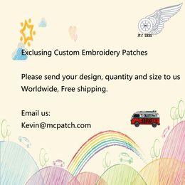 garniture à motif applique Promotion Patches brodés exclusifs sur mesure Design toute taille N'importe quel motif Patch personnalisé Livraison gratuite