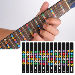 2019 beschichtete gitarren saiten Gitarre Griffbrett Notizen Karte Etiketten Aufkleber Griffbrett Fret Decals für 6 String Akustische Elektrische Guitarra