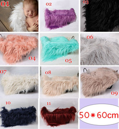 Cheap Price Newborn Baby Rose Faux Fur Blanket Basket Stuffer Rug Backdrop Photo Photography Prop Tools Luggage & Bags