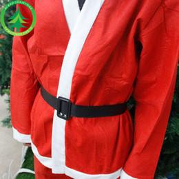 vestidos de xadrez tartan Desconto Traje de Papai Noel de Natal, vestido de Papai Noel, chapéu de Natal não tecido, barba de roupas