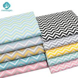 Panni chevron online-Mensugen 50cm * 160cm Chevron Stripes Tessuto di cotone per Patchwork Quilting Cuscini Cuscini di copertura di stoffa Baby Lenzuolo Tissue
